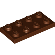 [New] Plate 2 x 4, Reddish Brown. /Lego. Parts. 3020